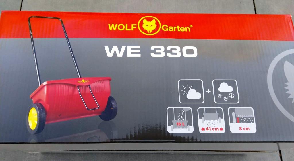 WOLF-Garten Universal-Streuwagen WE 330 für Dünger, Saatgut, Sand uvm.